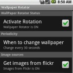 Automatic photo change with Android Wallpaper Rotator app