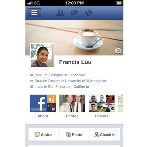 Facebook 4.1 for iOS comes with Timeline