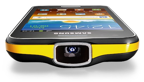 Samsung galaxy beam an smartphone with integrated projector for Miroir 50in projector specs