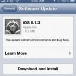 iOS 6.1.3 makes battery autonomy problems