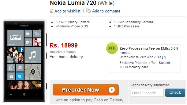 Nokia Lumia 720 – release date on India available