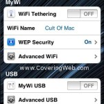 Turn your iPhone 4 into a Wi-Fi HotSpot with MyWi 4.0 application