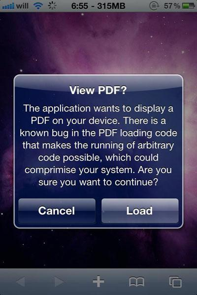 PDF Warner for iPhone
