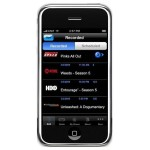 U-verse, an AT&T application that enables you to record and watch TV shows on your iPhone