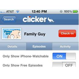 Clicker app for iPhone