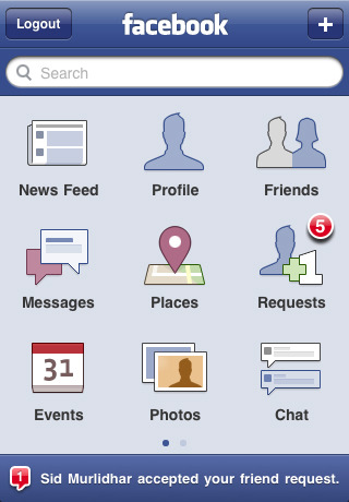 Facebook 3.2 free app for iPhone1
