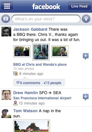 Facebook 3.2 free app for iPhone2