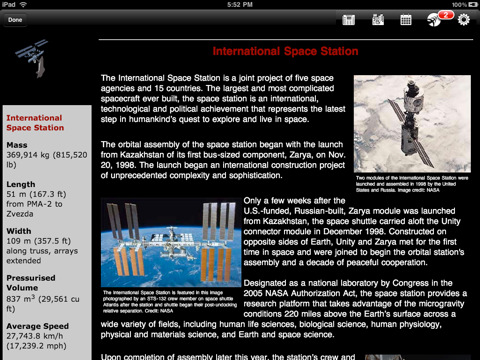 NASA App HD free for iPad1
