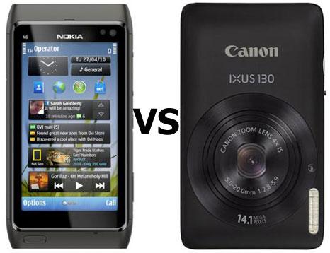 N8 vs Canon IXUS 130