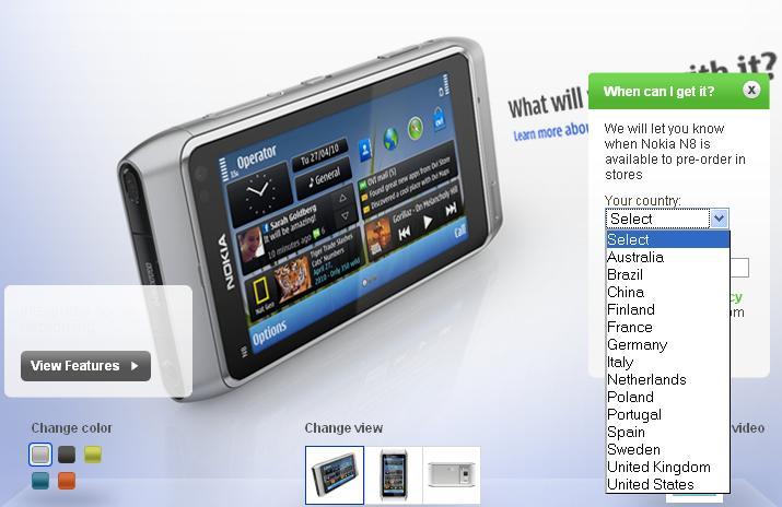 Nokia N8 Preorder
