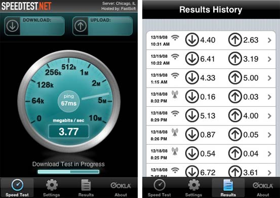 iPhone Internet Speedtest
