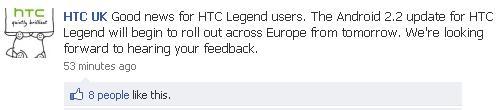 htc legend froyo