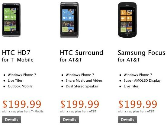 Windows Phone on sale in us