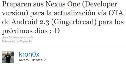 Nexus One Android 2.3 Gingerbread