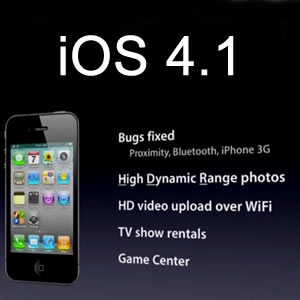 iOS 4.1 software update