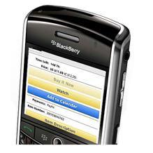 eBay app for BlackBerry