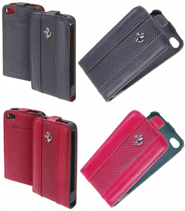 ferrari-leather-iphone-flap-red-black