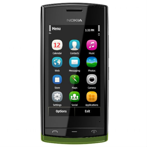 Nokia 500 green front view