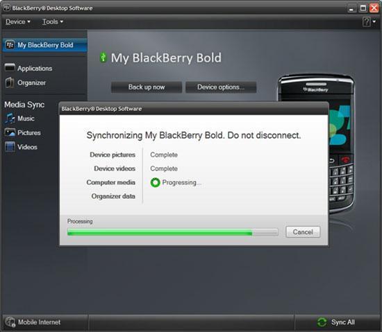 BlackBerry Desktop Software 6 beta 3
