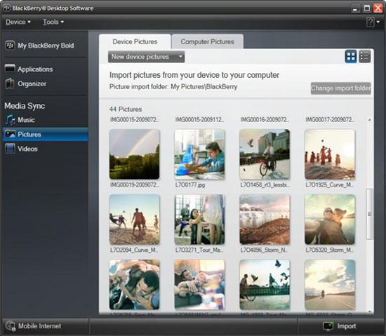 BlackBerry Desktop Software 6 beta 4