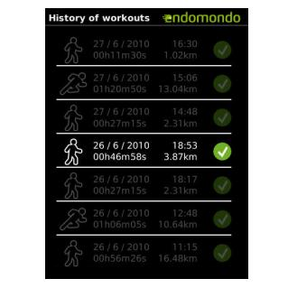 Endomondo Sport Tracker Blackberry