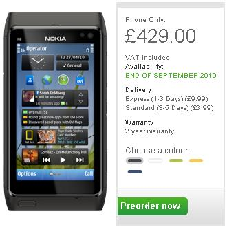Nokia N8 Pre-Order UK